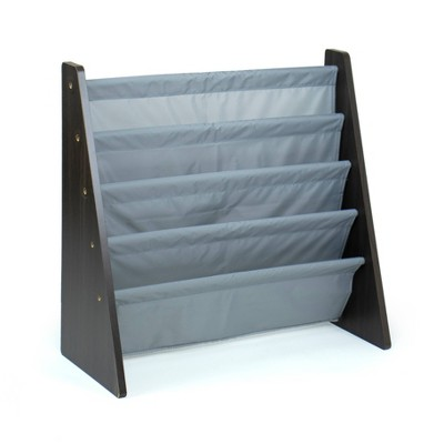 Sumatra Kids' Bookshelf 4 Tier Book Organizer Espresso/Gray - Humble Crew