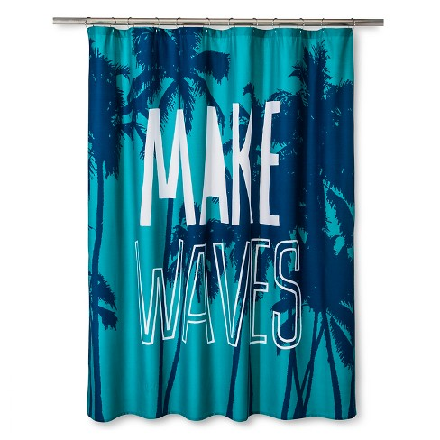 Make Waves Shower Curtain - Marine Blue - Pillowfort™ - image 1 of 1