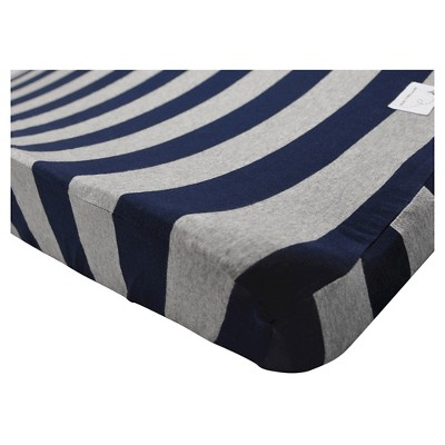 Burt's Bees Baby® Organic Changing Pad Cover - Stripe - Blueberry