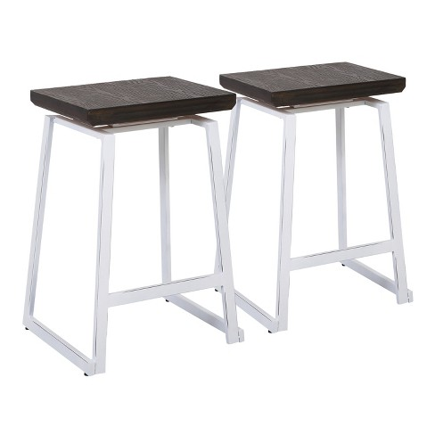 Set of 2 Geo Industrial Counter Stools - LumiSource - image 1 of 4