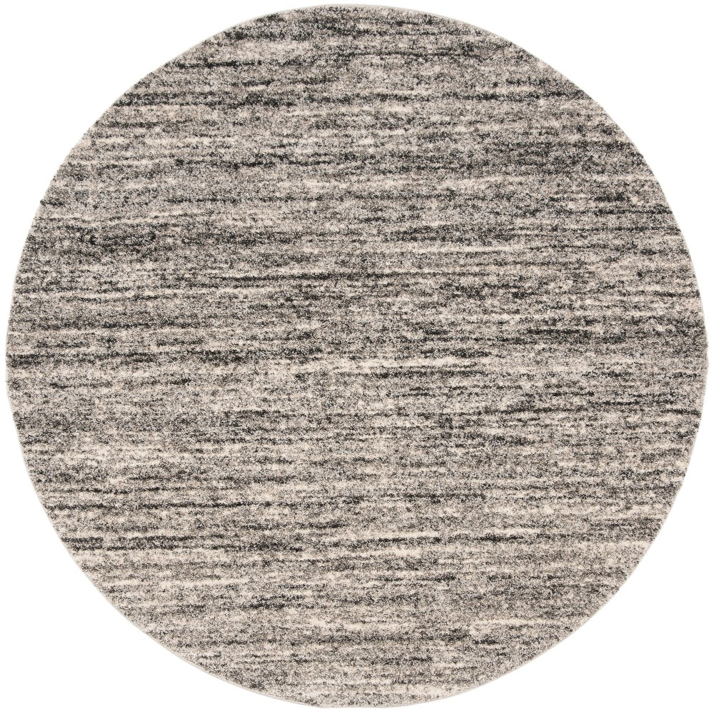 6' Spacedye Design Loomed Round Area Rug Ivory/Gray - Safavieh