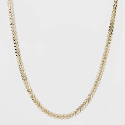 Fishbone Chain Necklace - A New Day™ Gold
