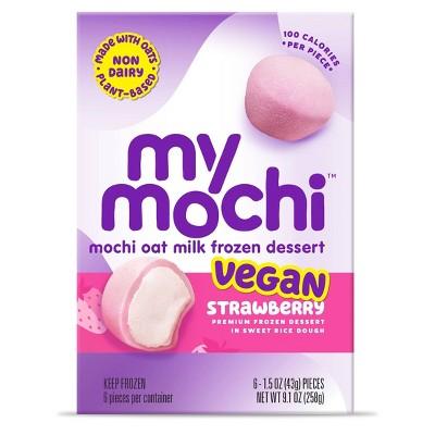 My/Mo Mochi Oat Milk Frozen Dessert Strawberry - 6ct