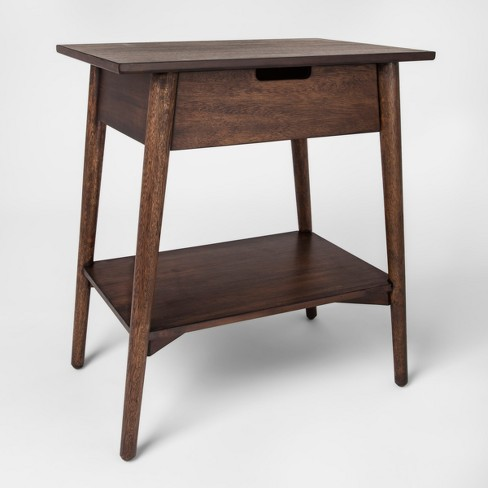 Walnut One Drawer Accent Table Project 62