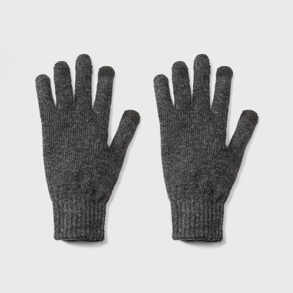 Men's Knit Touch Tech Glove - Goodfellow & Co Charcoal (Grey) One Size