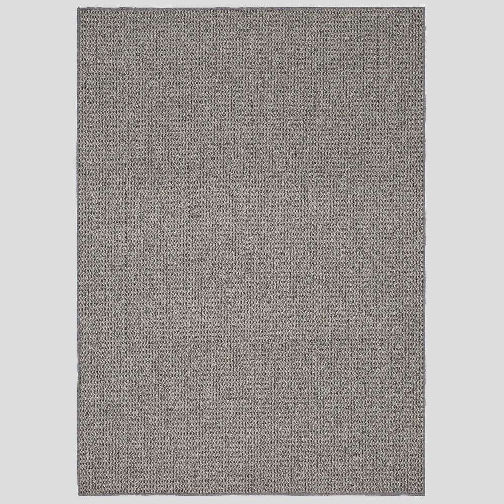 Image of 9'X12' Indoor/Outdoor Solid Tufted Area Rug Tan/Gray - Made By Design