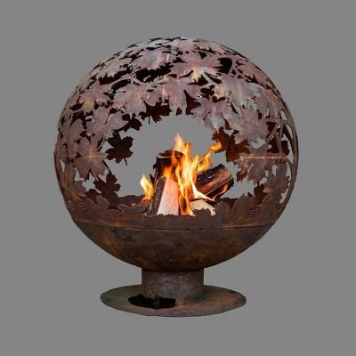 Laser Cut Blowing Leaves Fire Sphere L - Esschert Design