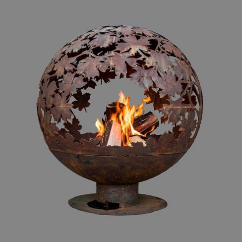 Laser Cut Blowing Leaves Fire Sphere XL - Esschert Design - image 1 of 1