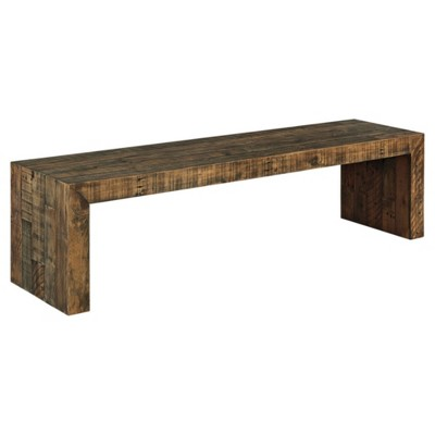 "65"" Sommerford Dining Room Bench Brown - Signature Design by Ashley"