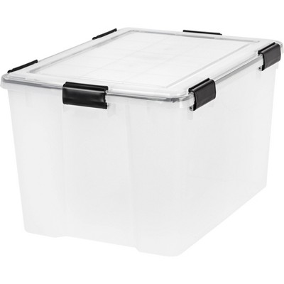 IRIS 3pk 74qt Weathertight Storage Box Clear