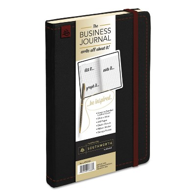Southworth® Business Journal Ruled 8 1/4 x 5 1/8 Black Cover 240 Sheets 9888601