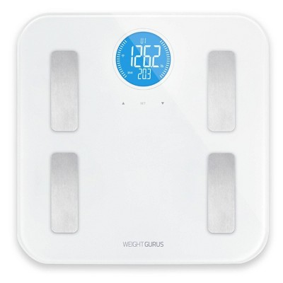 Wifi Plastic/Glass Personal Scale White - Weight Gurus