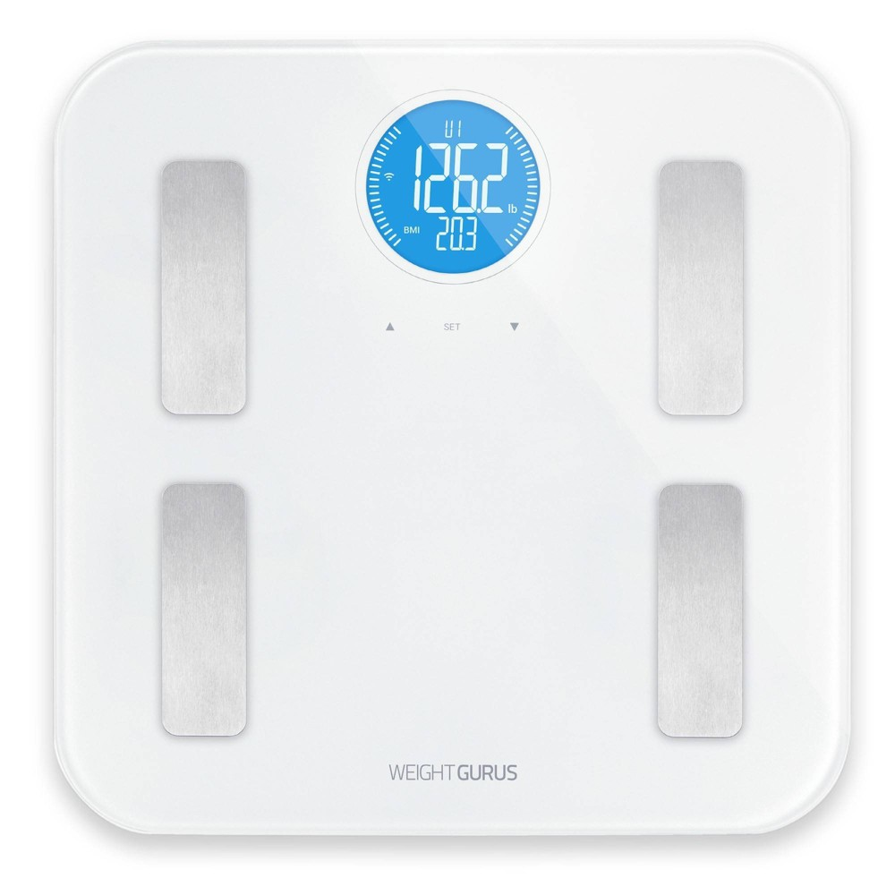 Image of Wifi Plastic/Glass Personal Scale White - Weight Gurus