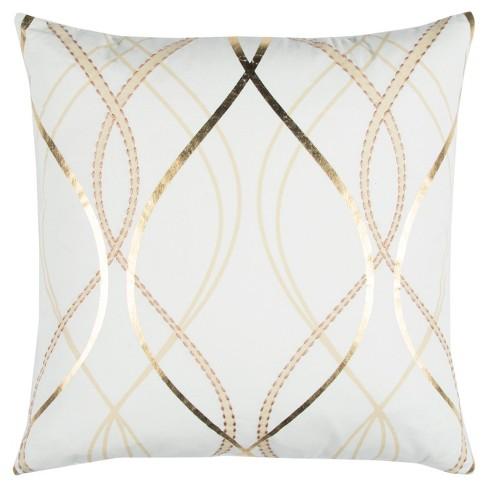 """20""""x20"""" Cotton Throw Pillow White - Rizzy Home - image 1 of 2"""