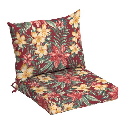Arden Selections Outdoor Dining Chair Cushion Set Ruby Clarissa Tropical
