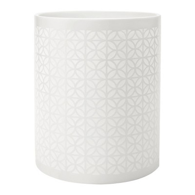 Felix Wastebasket White - Allure Home Creations