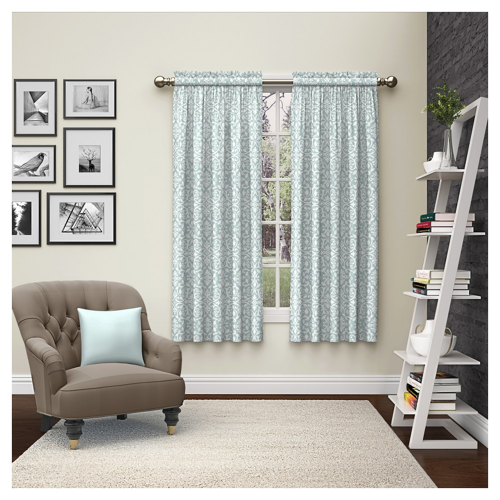 "Image of ""2 Piece Pinkney Curtain Panels Blue (28""""x84"""") Pairs To Go"""