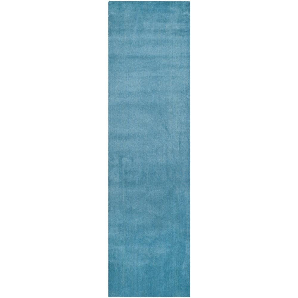 2'3X12' Tufted Solid Runner Rug Blue - Safavieh