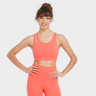 Women's Asymmetrical Cut Out Racerback Bra - JoyLab™