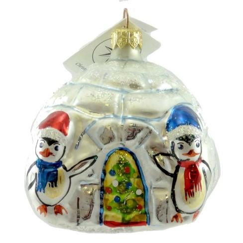 Christopher Radko Warm Wishes Ornament Igloo Penguin Home - image 1 of 2
