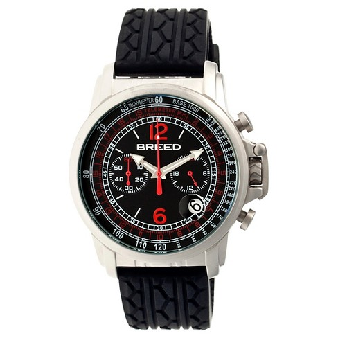 Men's Breed Nash Watch with Tire-Tread Silicone Strap - image 1 of 3