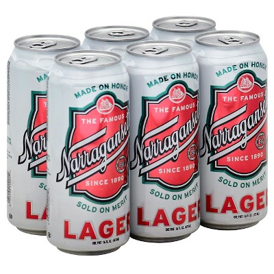 Narragansett Lager Beer - 6pk/16 fl oz Cans