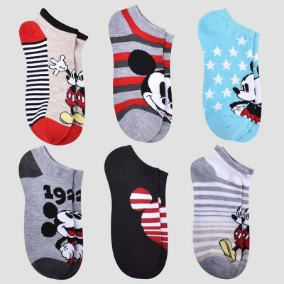 Women's Mickey Mouse 6pk Low Cut Socks - Assorted Colors 4-10
