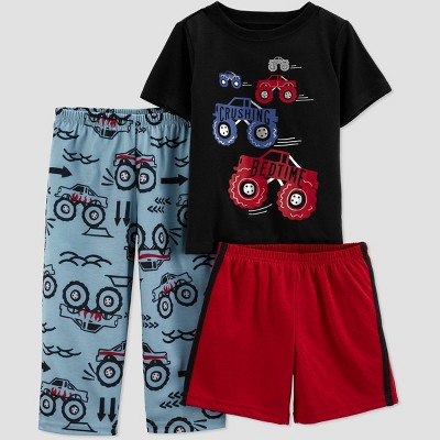 Toddler Boys' 3pc Rescue Pajama Set - Just One You® made by carter's Blue/Black/Maroon