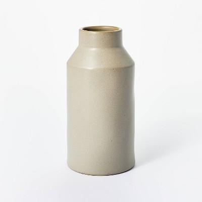 "8"" x 4"" Carved Ceramic Vase Gray - Threshold™ designed with Studio McGee"