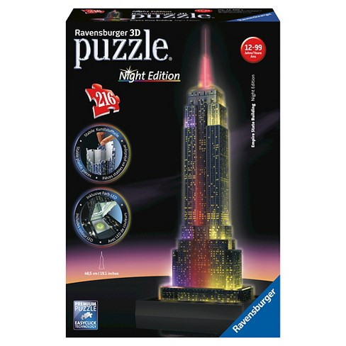 Ravensburger Night Edition: Empire State Building With LED 3D Puzzle 216pc - image 1 of 2