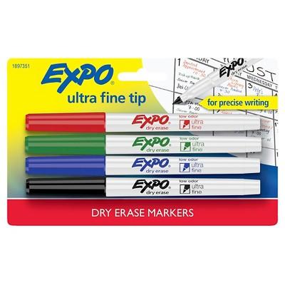 4pk Dry Erase Marker Ultra Fine Tip Multicolor - Expo