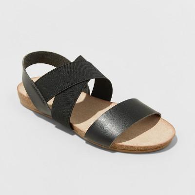Women's Kerryn Footbed Sandals - Universal Thread™ Black 10