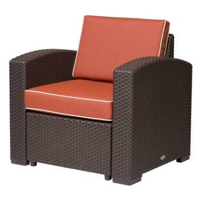 Magnolia Rattan Club Chair - Lagoon