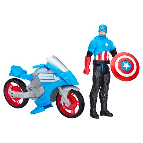 Marvel Titan Hero Series Captain America with Battle Cycle - image 1 of 2
