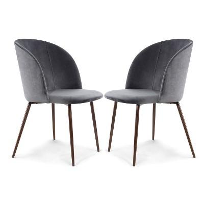 Set of 2 London Velvet Dining Chair - Poly & Bark