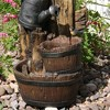 "31""H Polyresin Rustic Birdhouse and Garden Watering Can Outdoor Water Fountain - Sunnydaze Decor - image 4 of 4"