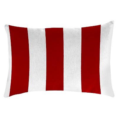 Outdoor Throw Pillow Set Jordan Manufacturing Candy Apple White