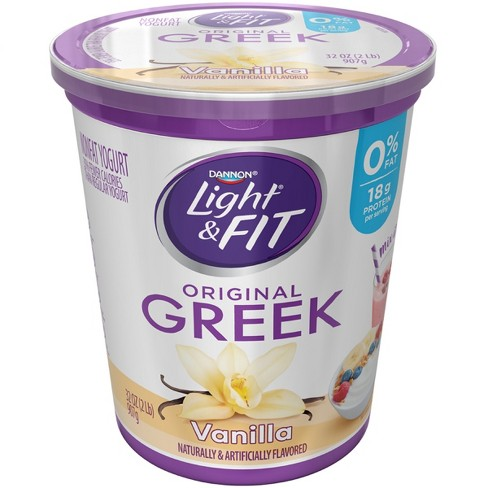 Dannon Light and Fit Original Vanilla Flavored Greek Yogurt - 32oz - image 1 of 1