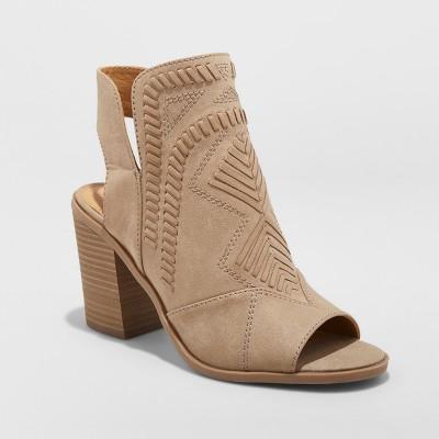Women's Edwina Fashion Boots - Universal Thread™ Taupe 7.5