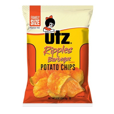 Utz BBQ Ripple Potato Chips - 9oz