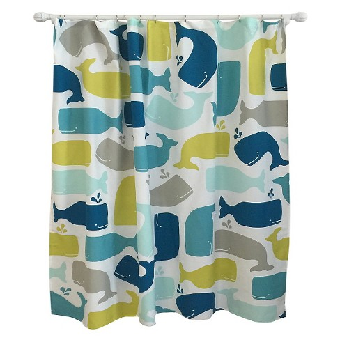 Whale Shower Curtain Amparo Blue
