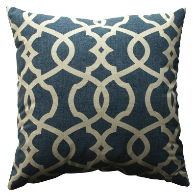 Blue Emory Throw Pillow 18 x18  - Pillow Perfect®