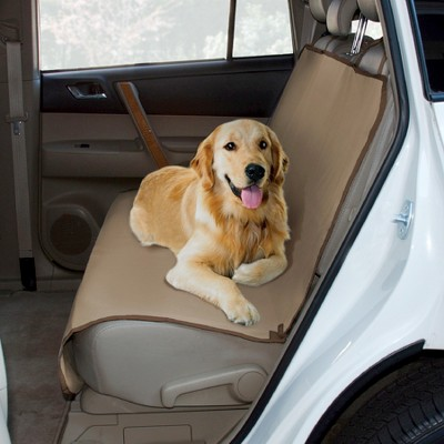 Yes Pets Oxford Water Proof Bench Dog Car Seat Cover - Tan