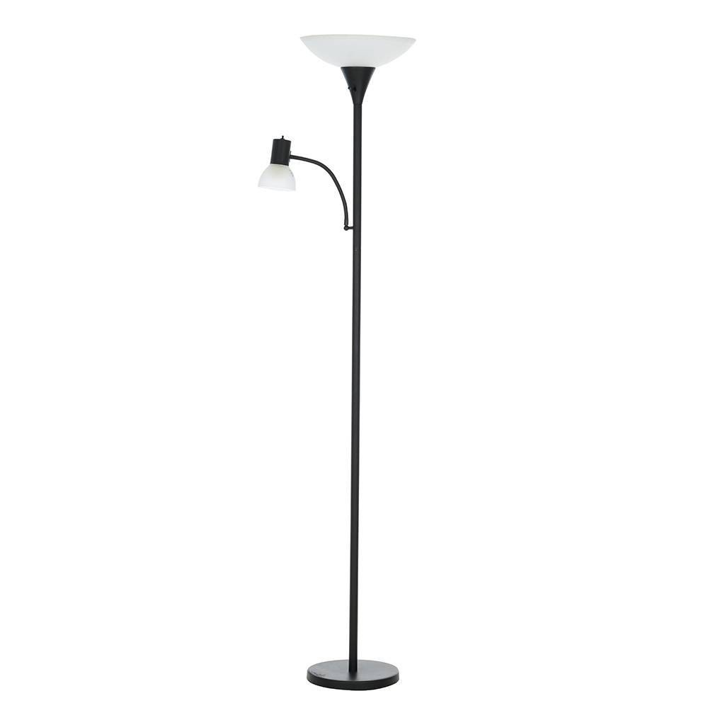 Reading Light Led Floor Lamp Black (Includes Energy Efficient Light Bulb) - Cresswell Lighting