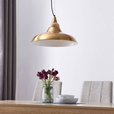 "11"" Beldin Pendant Lamp Brass - Aiden Lane"