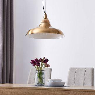 "11"" Beldin Pendant Lamp Brass - Aiden Lane"