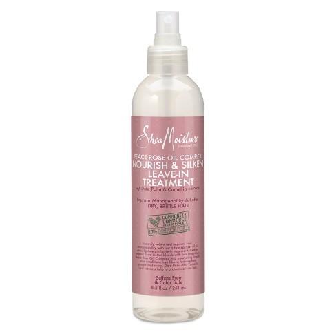 Shea Moisture Peace Rose Oil Complex Nourish & Silken Leave-In Treatment - 8.5 fl oz - image 1 of 1