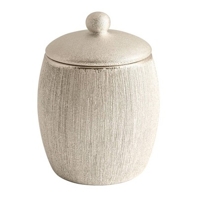 Shimmer Cotton Ball Jar Gold - Allure Home Creations