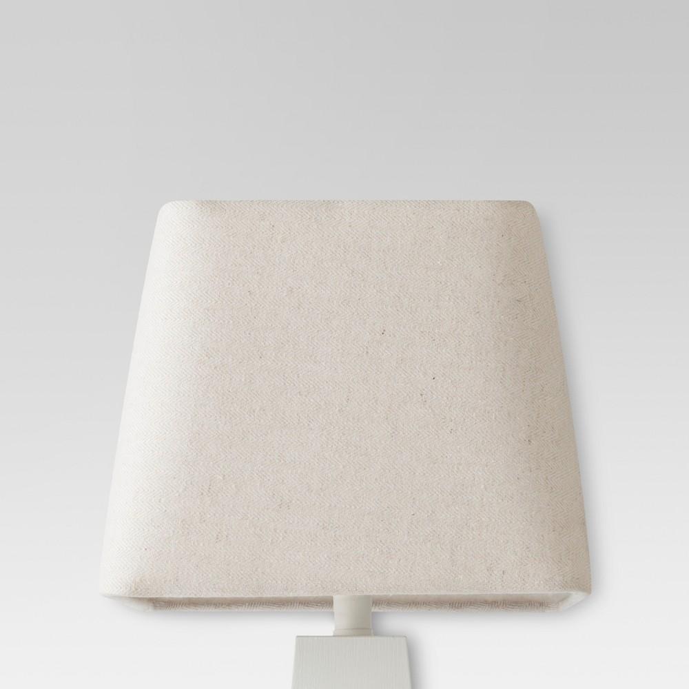 Image of Herringbone Textured Rounded Square Lamp Shade Cream - Threshold