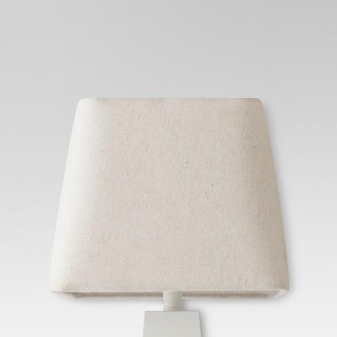 Herringbone Textured Rounded Square Lamp Shade Cream Threshold